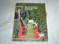 Hesston 7020 Pull Type Forage Harvester Parts Listing Catalog Manual Book