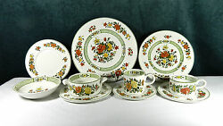 61-pcs Or Less Of Villeroy And Boch Summer Day Pat Fine German Porcelain/china