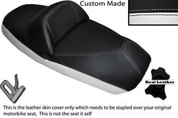 Black And White Custom Fits Sym Voyager Gts 125 250 300 Dual Leather Seat Cover