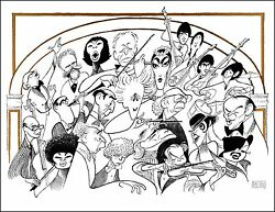 Al Hirschfeld's CARNEGIE HALL THE 100th ANNIVERSARY Hand Signed LE Lithograph