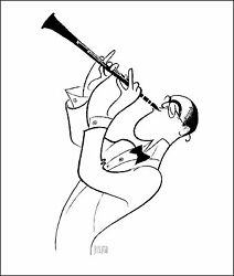 Al Hirschfeld's Benny Goodman Hand Signed Limited Edition Lithograph