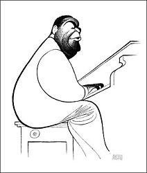 Al Hirschfeld's Fats Waller Hand Signed Limited Edition Lithograph