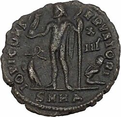 Licinius I Constantine The Great Enemy 321ad Ancient Roman Coin Jupiter I42376