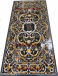 Grand Pietra Dura Marble Inlay Dining Table Top