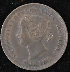 1884 Near 4 EXTREMELY FINE Canadian Five Cents Silver SCARCE COIN