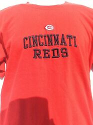 Cincinnati Reds Mlb Embroidered Sewn Stitched Red T Shirt By Lee Sport L@@k