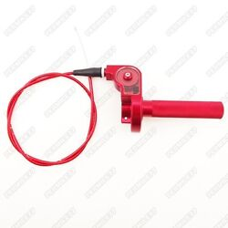 Red Cnc Twist Throttle Cable Assembly Pitster Ycf Gpx Ssr Pit Dirt Bike 125cc