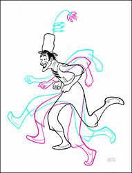 Al Hirschfeld's Marcel Marceau Hand Signed Limited Edition Lithograph