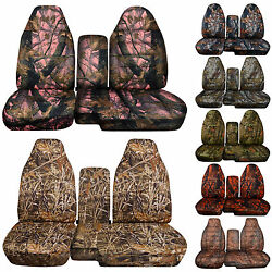 Fits 98-03 Ford Ranger Truck Seat Covers 60-40 With Console Cover Camouflage