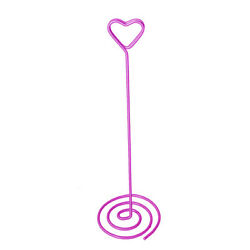 Pack Of 12 Hot Pink Heart Spiral Wedding Table Number Holders Xtnhhhhp-12