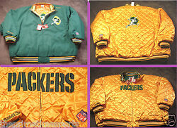 Green Bay Packers Reversible Green/gold, Wool And Satin Mandn Jacket, Size 64 5xl