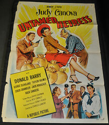 Untamed Heiress One Sheet 1 Sh Movie Poster - 1954 Itb Wh