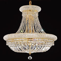 New Crystal Chandelier Primo Gold 14 Lights 20x26