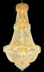 New Crystal Chandelier Century 24k Gold Plated 30x48
