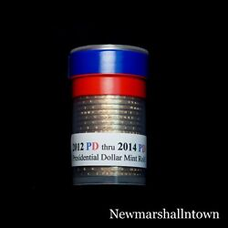 2012 2013 2014 P+d Presidential Dollar Mint Roll Set No Proof S