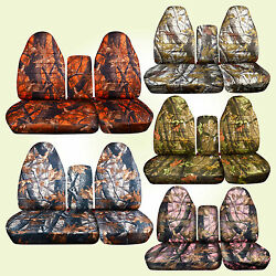 Fits 96-03 Ford F150 40-60 Hiback Seat Camouflage Car Seat Covers+console Cover