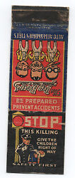 1930s Pep Boys Advertising Matchbook With Stop The Killing Of Children Graphics