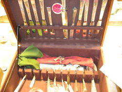 Reed And Barton Sterling Classic Rose Flatware W/box 63 Pieces