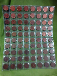 Canadian Coin 1920 To 2012 Penny Lot - 84 Small Cent Near Date Complete Rare Lot