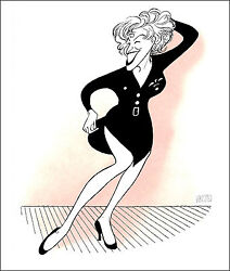 Al Hirschfeld's Bette Midler In For The Boys Hand Signed Limited Ed Lithograph