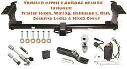Trailer Hitch For 05-10 Honda Odyssey Pkg Deluxe W/ Wiring + Combo Locks And Cover