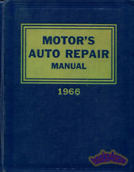 MOTORS AUTO REPAIR MANUAL SHOP SERVICE BOOK 1959-1966