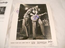 Robert Plant Jimmy Page Led Zeppelin Signed Autographed 8x10 Photo Psa Certified