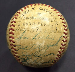 1954 Yankees Team Signed Baseball 25 Auto Mickey Mantle Berra No Clubhouse Jsa
