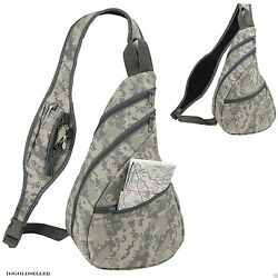 Digital Camo Army Military Sling Backpack Bags ACU Camouflage Single Strap 9quot; $5.69