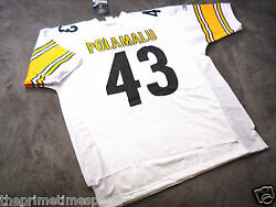 Troy Polamalu 43 - Pittsburgh Steelers White Nfl Jersey -- All Sizes Available