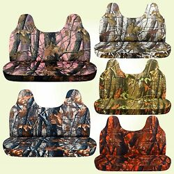 Camouflage Seat Covers Fits 99-04 Ford F150-250-350 For Bench W/molded Headrest