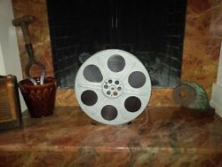 35mm Movie Reel With Film Great Antique Mid Century. Great Display 4 Home/ofc.