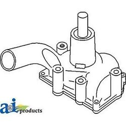 160927as Water Pump Fits White/ Oliver/ Mpl Moline Tractor 1550 1555 2-44 2-62