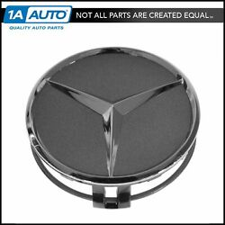 Oem 22040001257756 Wheel Cap Gray And Chrome Center For Mercedes Benz