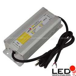 12-volt Dc 60-watt 5a Led Waterproof Driver Power Supply With 3-prong Plug Ip68