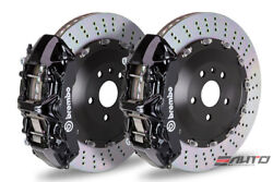 Brembo Front GT Brake 6pot Caliper Black 405x34 Drill Rotor BMW F80 M3 F82 M4