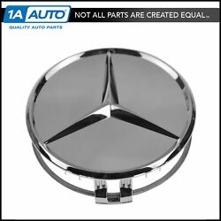 Oem Wheel Center Cap And Raised Star Chrome Lh Rh Front Rear For Mercedes Benz