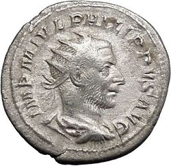 Philip I 'the Arab' Silver Rare Ancient Coin Virtus Courage Excellence I48750