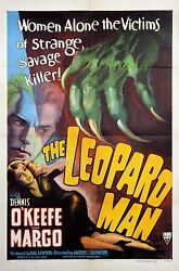 Leopard Man The 1943 Style A One Sheet Poster Atmospheric Design And Graphics