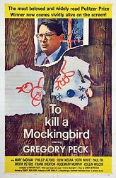 To Kill A Mockingbird 1962 One Sheet Poster / Folded As Issued, No Tears / Nf