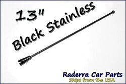 13 Black Stainless Am Fm Antenna Mast Fits 1985-1989 Plymouth Reliant