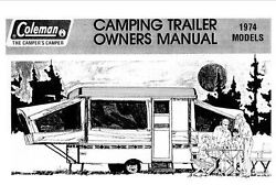Coleman Popup Trailer Owners Manual-1974 Minuteman Somerset Valley Forge