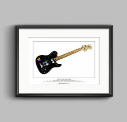 Thom Yorkeand039s 1972 Telecaster Deluxe Limited Edition Fine Art Print A3 Size