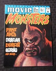 1974 Movie Monsters 1 Seaboard Magazine Vf- Planet Of The Apes