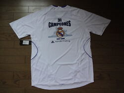 Real Madrid 2007/08 100 Official Original Jersey Shirt Xl Nwt 31 Campeones[903]