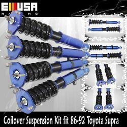Coilover Suspension Lowering Kits Blue Fits Toyota Supra 86-92 Base/87-92 Turbo