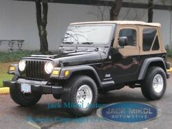 Spice For 97-06 Jeep Wrangler Soft Top Tinted Rear Back Windows, Clear Skins