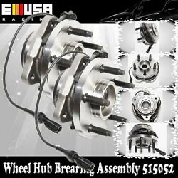 1 Pair Front Wheel Hub Bearing Assembly For 2003-2011 Ford Ranger 4wd Abs