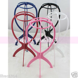 Wig StandS Folding Plastic Head Hat Cap Display Holder Hair Care Tools Accessory
