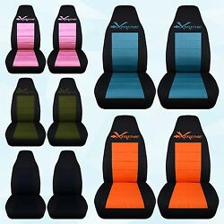 Designcovers Fits Chevrolet Camaro-xtreme Highback Front+rear Car Seat Covers